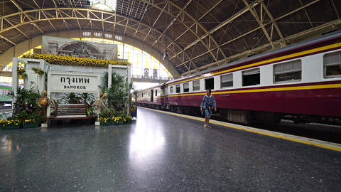 The railway station in Bangkok 画像