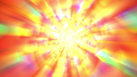 Orange Gold Multicolored Glow Burst Rays VJ Background Animation