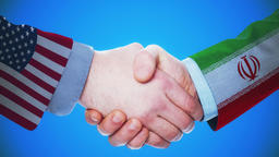 United States - Iran / Handshake concept animation about countries and politics Animation