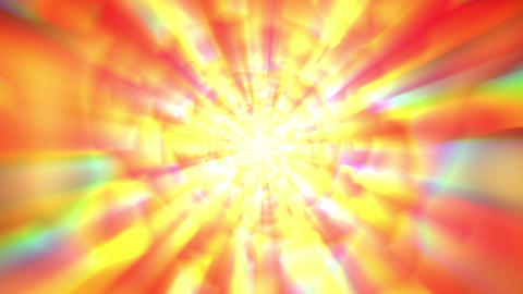 Rotating Orange Gold Multicolored Glow Burst Rays VJ Background Animation