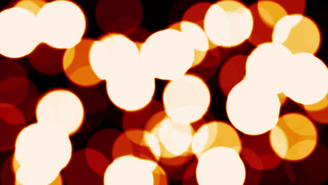 Light Spots Bubbles Warm Red Fuzzy Focus Bokeh Motion Background Loop Animation