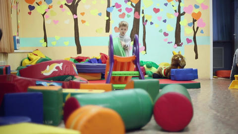 Little boy playing in the playroom Footage