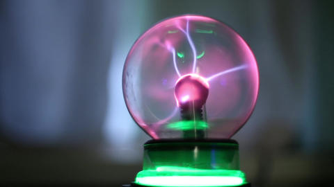 Magic ball with lightning Stock Video Footage