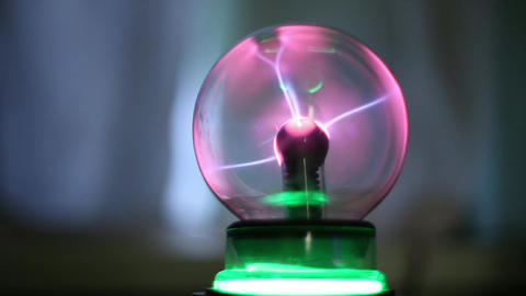 Magic Ball With Lightning stock footage