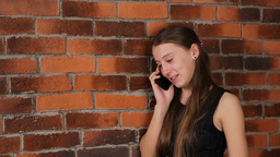 Girl Talking On Cell Phone stock footage