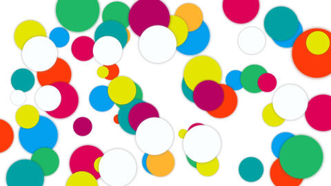 Random colorful polka dots popup animation design element After Effectsテンプレート