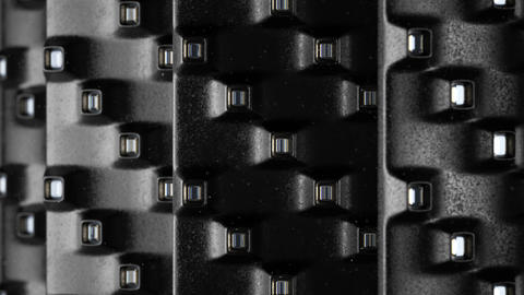 Technology Abstract Black Background Rotating seamless... Stock Video Footage