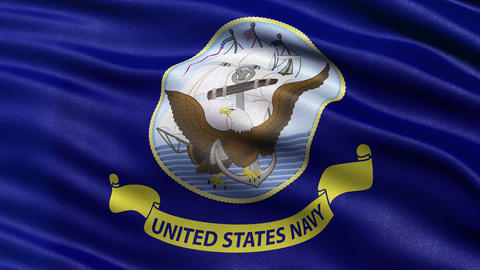 4K United States of America Navy flag waving in the wind Animation