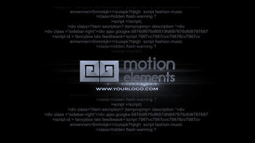 Glitch Script Text After Effects Template