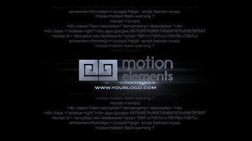 Glitch Script Text Plantilla de After Effects