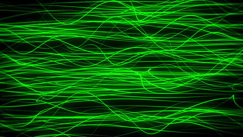 Flowing Green Abstract Lines Loopable Motion Background Backdrop Animation