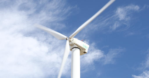Wind Turbine at Apogee Stadium in Denton Texas Live Action