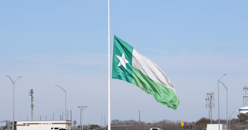 University of North Texas flag at half staff Live Action