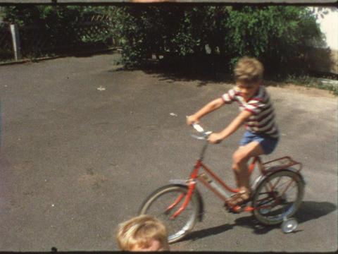Girl riding bike Footage
