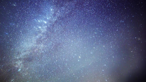 The stars revolve around a polar star Footage