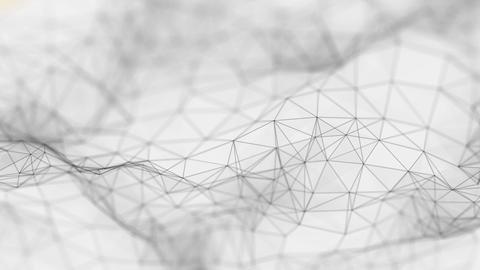 Plexus Surface Looped Grey Background GIF