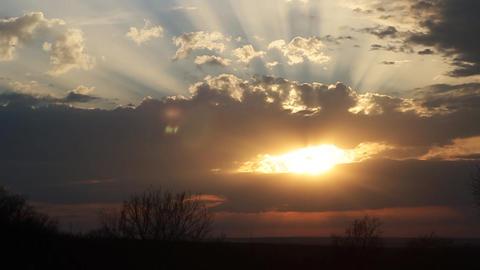 Beautiful Timelapse Sunset Archivo