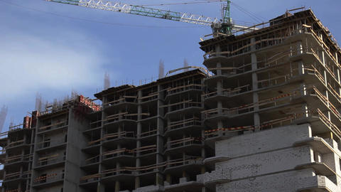 Construction of the building 002 動画素材, ムービー映像素材