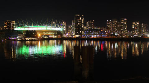 Vancouver Skyline seen from False Creek Footage