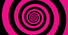 Hypnotic black and pink zooming Spiral in 4k Animation