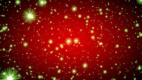 Red Vignette Green Glow Stars Infinite Flight Motion Background Loop roll left Animación
