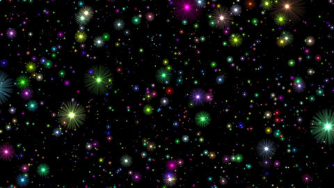 Numerous Multicolored Stars Infinite Flight Motion Background Loop CG動画素材