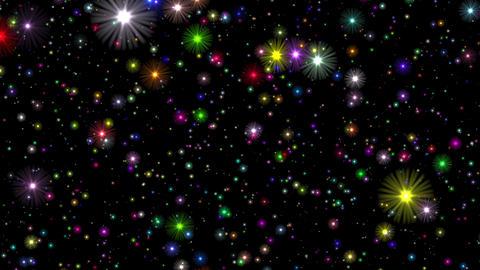 Numerous Multicolored Stars Infinite Flight Motion Background Loop Roll Left Animation