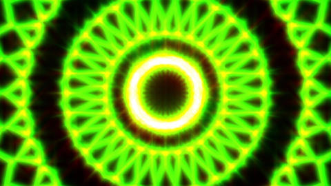 Ornate Green Light Burst Disco Neon VJ Abstract Motion Background Loop Close 2 Animation