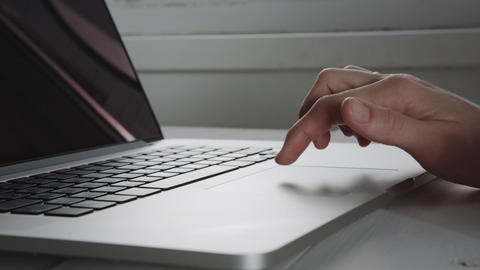 Businesswoman hands working on laptop computer Footage