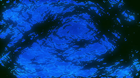 Bright Dark Blue Water Surface Waves Motion Background Loop 2 Animación