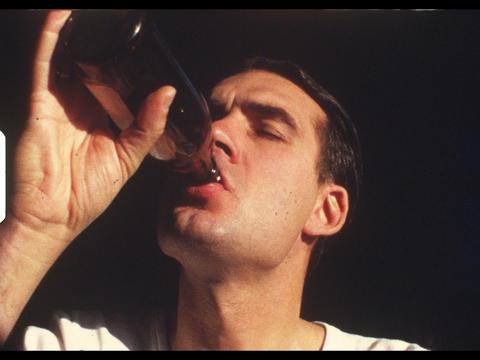 Man drinking bottle of beer Footage
