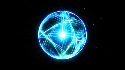 Plasma Fire Ball on Black Background, CG Animation, Loop CG動画素材