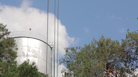 Boom of Building Crane Hook Footage