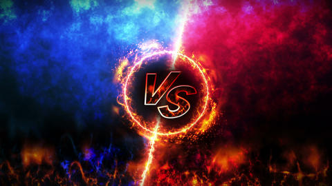 Versus fight backgrounds, VS on fire, Loop Animation
