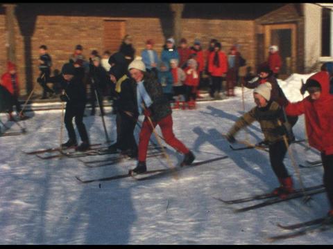 Ski lesson 03 Footage