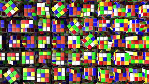 Rubik's Cube Animation Background Loop Image