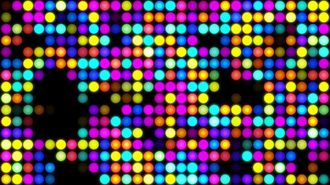 Colorful dot lights background, looped Animación