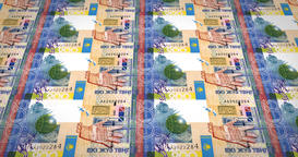 Banknotes of two hundred kazakhstani tenges of Kazakhstan, cash money, loop Animación