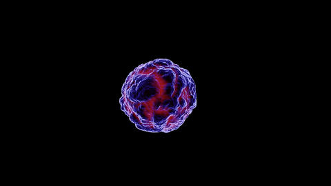 3d medical illustration of virus, bacteria,microbe isolated on black background Animation