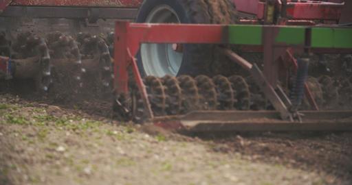 Farmer working on field Footage