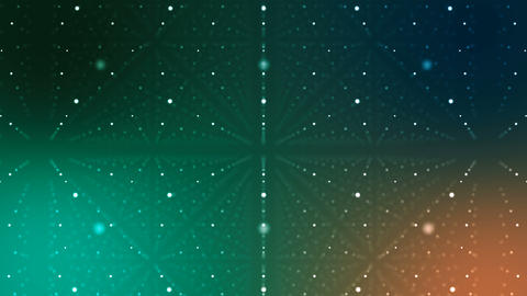 Green Cyberspace with Lines of Dots Animation