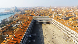 Time lapse of Saint Mark's square in Venice, Italy Footage