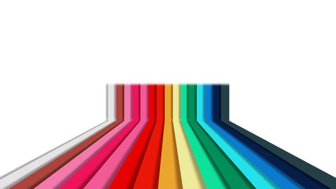 Colorful rainbow vertical stripes background of color lines After Effects Template