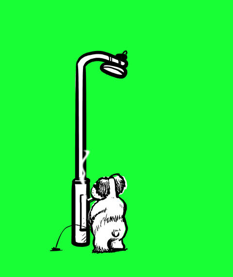 Dog Peeing on a lamppost Animation