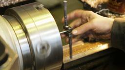 Metal Milling Machine stock footage