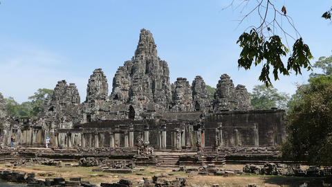 The Bayon Khmer temple Footage