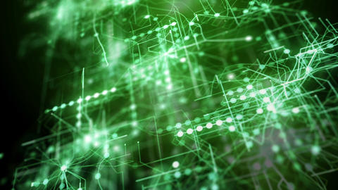 Green abstract futuristic technology background Animation