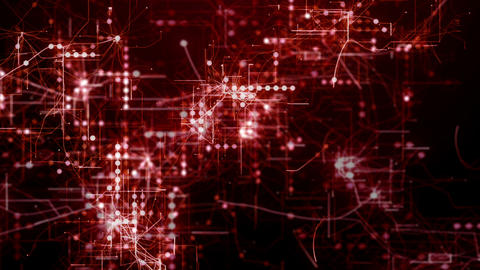 Red abstract futuristic technology background Animation