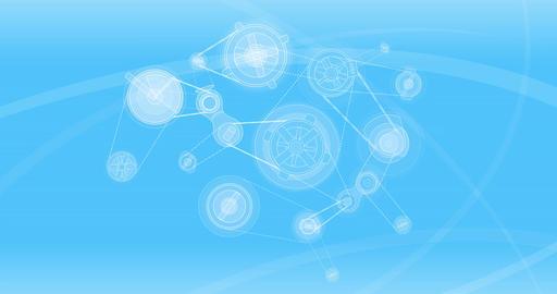 Mechanical blue background 4K Animation