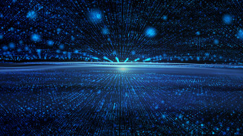Blue abstract background with lines from points and light Motion graphics Animation